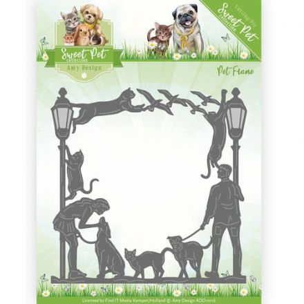 ADD10116 L ~ Pets Cutting Die ~ Pets Frame ~ Amy Design